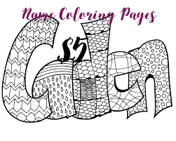 Name Coloring Pages Color Your Any As A Printable Free Book
