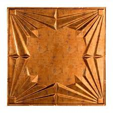 Staple Up Ceiling Tiles Home Depot by Fasade Art Deco 2 Ft X 2 Ft Lay In Ceiling Tile In Muted Gold