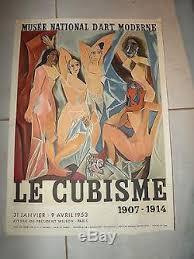 expo musee moderne ancienne affiche exposition 1953 le cubisme musée national d