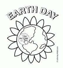 Beauty Earth Day Coloring Page For Kids Pages Printables Preschool Color Sheet Adult