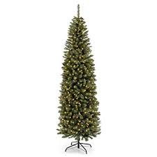 Best Choice Products 75FT Pre Lit Premium Hinged Fir Pencil Christmas Tree W