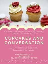 Image For Cupcakes And Conversation With Office Of Community Engagement Student Life Event