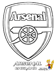 Free Football Coloring ARSENAL At YesColoring