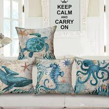 24 X 24 Patio Cushion Covers by Octopus Whale Cushion Cover Sea Horse Pillow Cover Ocean Animal