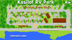 Layout Of The RV Park Two Rows Camping With A Lodge Bathrooms