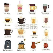 Different Types Of Coffee Makers Vector Set Royalty Free Vectors And Stock Illustration Image