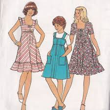 Summer Dress For Girls Sewing Pattern Sleeveless Dress Pattern