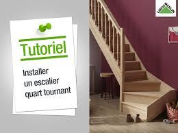 comment poser un escalier quart tournant