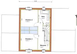 plan de maison 2 chambres 50 plan maison 50m2 a etage idees
