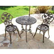 3pcs Outdoor Patio Furniture Cast Aluminum Bistro Set, Outdoor Metal ... Crosley Griffith Outdoor Metal Five Piece Set 40 Patio Ding How To Paint Fniture Best Pick Reports Details About Bench Chair Garden Deck Backyard Park Porch Seat Corentin Vtg White Mid Century Wrought Iron Ice Cream Table Two French White Metal Patio Chairs W 4 Chairs 306 Mainstays Jefferson Rocking With Red Choosing Tips For At Lowescom