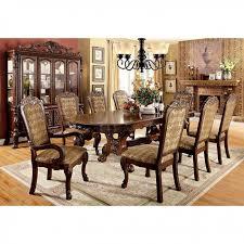Furniture Of America Medieve Oval Diningroom Set In Cherry