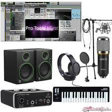 Home Recording Pro Tools Bundle Studio Package Midi 32 Mackie Software