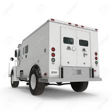 100 Armored Truck On White 3D Illustration Stock Photo Picture And