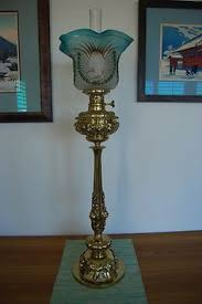 Ebay Antique Kerosene Lamps by Theodore Roosevelt Kerosene Lamp 1912 Brass Metal Glass New