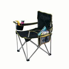 Camp Chair With Footrest by The Big Kahuna Heavy Duty Oversized Quad Chair