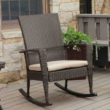 Modern Weather Resistant Rocking Chair Steel Patio The Home Spring ... 3piece Honey Brown Wicker Outdoor Patio Rocker Chairs End Table Rocking Luxury Home Design And Spring Haven Allweather Chair Shop Abbyson Gabriela Espresso On 3 Piece Set Rattan With Coffee Rockers Legacy White With Cushion Fniture Cheap Dark Find Deals On Hampton Bay Park Meadows Swivel Lounge