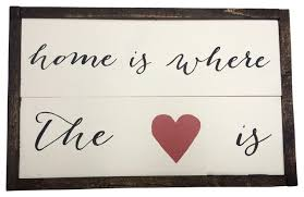 Home Is Where The Heart Wooden Sign Contemporary Novelty Signs