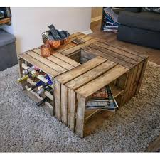 Coffee Table Made With Crates Crate Wine Sample Of