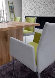 stuhl esstimmerstuhl mit armlehnen stoff vierkant grau gelb esszimmer