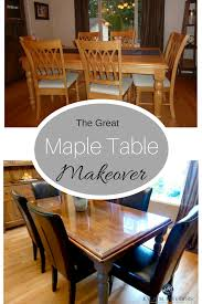 How To Refinish And Update A Maple Table | Maple Furniture ... Diy Refinished Painted Kitchen Table Dazzling Hospality Bentleyblonde Farmhouse Ding Set Makeover Fascating Antique Square Oak And Chairs Fniture Solid Pine Round With Refishing The Room Shannon Claire Just Chalk Paint Fabric How To Refinish Wooden A Bystep Guide A Its Actually Extremely Easy Refishing Table And Chairs Transform Vintage Bluesky Projects Sarah Joy
