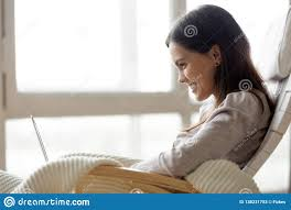 Happy Smiling Young Woman Using Laptop Sitting On Rocking ... Happy Calm African Girl Resting Dreaming Sit In Comfortable Rocking Senior Man Sitting Chair Homely Wooden Cartoon Fniture John F Kennedy Sitting In Rocking Chair Salt And Pepper Woman Sitting Rocking Chair Reading Book Stock Photo Grandmother Her Grandchildren Pensive Lady Image Free Trial Bigstock Photos Hattie Fels Owen A Wicker Emmet Pregnant Young Using Mobile Library Of Rocker Free Stock Png Files