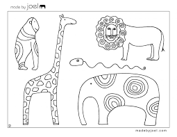 Printable Zoo Animal Worksheet For Kindergarten Pictures Of Animals And Their Babies