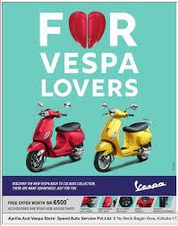 Vespa Bike For Lovers Ad