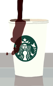 Starbucks Coffee Spill Over By FroggyArtDesigns On DeviantArt Png Freeuse