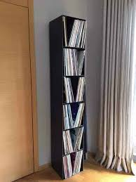 schallplatten regal classic 019 schwarz grau metall stahl stahlzart