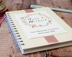 Floral Garland Personalised Wedding Planner Notebook Handmade Wire Bound Book