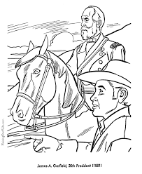 Free Printable President James A Garfield Coloring Pages