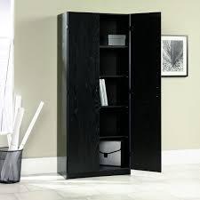 Free Standing Kitchen Cabinets Amazon by Amazon Com Sauder Storage Cabinet Ebony Ash Kitchen U0026 Dining