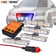 4Pcs Stroboscopes Police Strobe Lights Kit For Emergency Vehicles ... 10watt Daytime Running Lights Xkglow 3 Mode Ultra Bright 14pcs Led Led Brake Stop Light Flasher Strobe Controller 12v24v Atv 4 Amber High Power Custer Products Led Auto Down Lights Rgb Flash Under Glow Lamp 7 Colors Pattern Car Ediors 6 Hid Bulbs 120w Hideaway Emergency Hazard Warning Ford To Offer Factoryinstalled On F150 2008 Leds All Around Youtube Trucklite 92844 Black Flange Mount Remote White Can Civilians Use In Private Vehicles Installing Wolo Hideaway Kit 12v Auto Mfg Corp Vehicle Warning Lights Power Supplies Strobe
