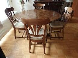 esszimmer tisch massivholz 4 stühle einlegeplatte m