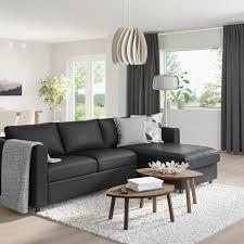 vimle 3er sofa mit récamiere grann bomstad schwarz