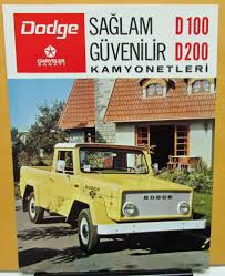 1973 Chrysler Sanayi Dodge Truck D100 200 Foreign Dealer Brochure ...