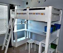 Bunk Bed Desk Combo Plans by Loft Bed With Dresser Underneath Plans Loft Bed Plans Free Free