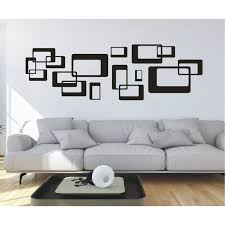 huis wandtattoo ornament retro quadrate cubes wandsticker