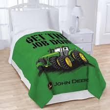 John Deere Bedroom Decor by Amazon Com John Deere Plush Blanket Get The Job Done Home U0026 Kitchen