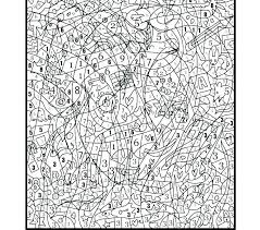 Coloring Pages By Numbers Printable Advanced Color Number