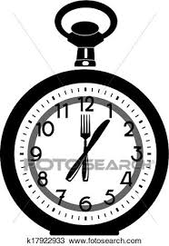 Clipart Of Lunch Time K17922933