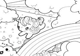 Unicorn And Rainbow Coloring Pages Magic