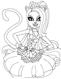 Full Image For Monster High Coloring Pages 13 Wishes Gigi All Characters
