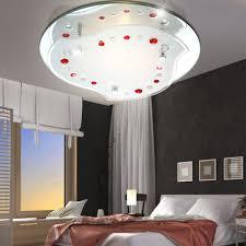 etc shop deckenleuchte 7w led deckenle beleuchtung wohnzimmer dekor rot klar chrom leuchte kaufen otto