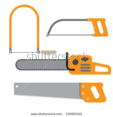 Hand Saw Set Of Carpentry Tools For Sawing Wood Products