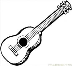 Luxury Guitar Coloring Pages 96 On Free Colouring With