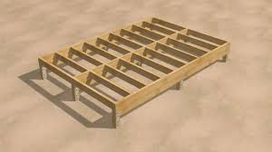 Floor Joist Spacing Shed by How To Build A Shed 9 Steps With Pictures Wikihow