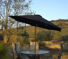 Walmart Patio Tilt Umbrellas by 9 U0027 Outdoor Patio Umbrella With Hand Crank And Tilt Black And