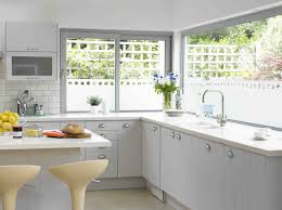 Kitchen Curtain Ideas For Large Windows by Window Treatments For Kitchen Ideas Homesfeed