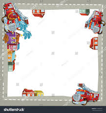 Royalty-free The Fire Truck In The City - Border -… #116902387 Stock ...